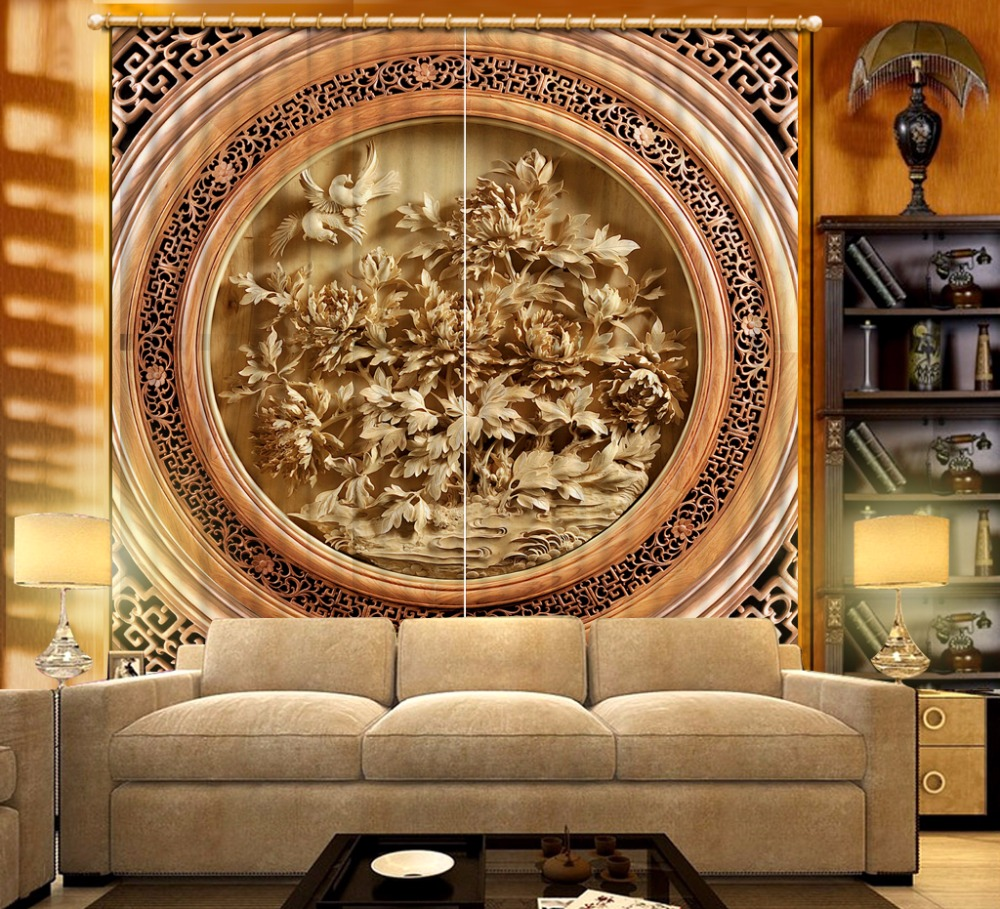Classic Luxury Window Curtain 3D Curtains Pattern Polyester/Cotton For Curtains The Living Room Bedroom Curtains DecorationClassic Luxury Window Curtain 3D Curtains Pattern Polyester/Cotton For Curtains The Living Room Bedroom Curtains Decoration