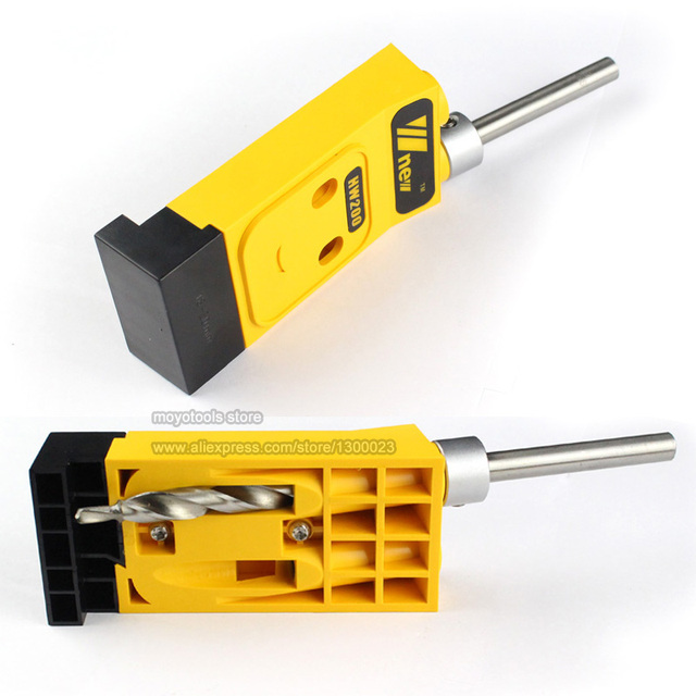 Pocket Hole Jig Kit + Screwdriver + Step Drill Bit woodworking Inclined hole locator for Splicing of plates Oblique hole drill
