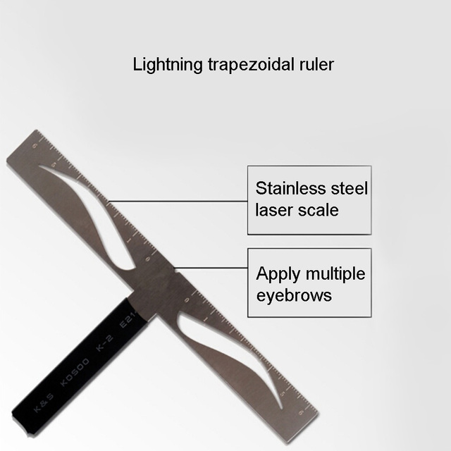 Eyebrow Ruler T-shaped Positioning Makeup Permanent Stencils Grooming Stencil Shaper Balance Ruler Symmetrical Tool 1