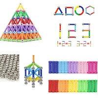 Top Magnetic Designer Toys For Children Magnetic Constructor Metal Balls Magnet Bars Models Kids Building Toys