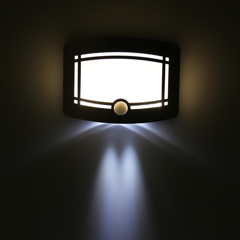 Sans fil infrarouge night light body motion sensor mur led lumière porche intérieur chambre accueil lampe