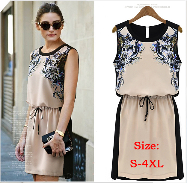 Aliexpress.com : Buy New 2015 Printed Dress Summer Vintage Women's ...
