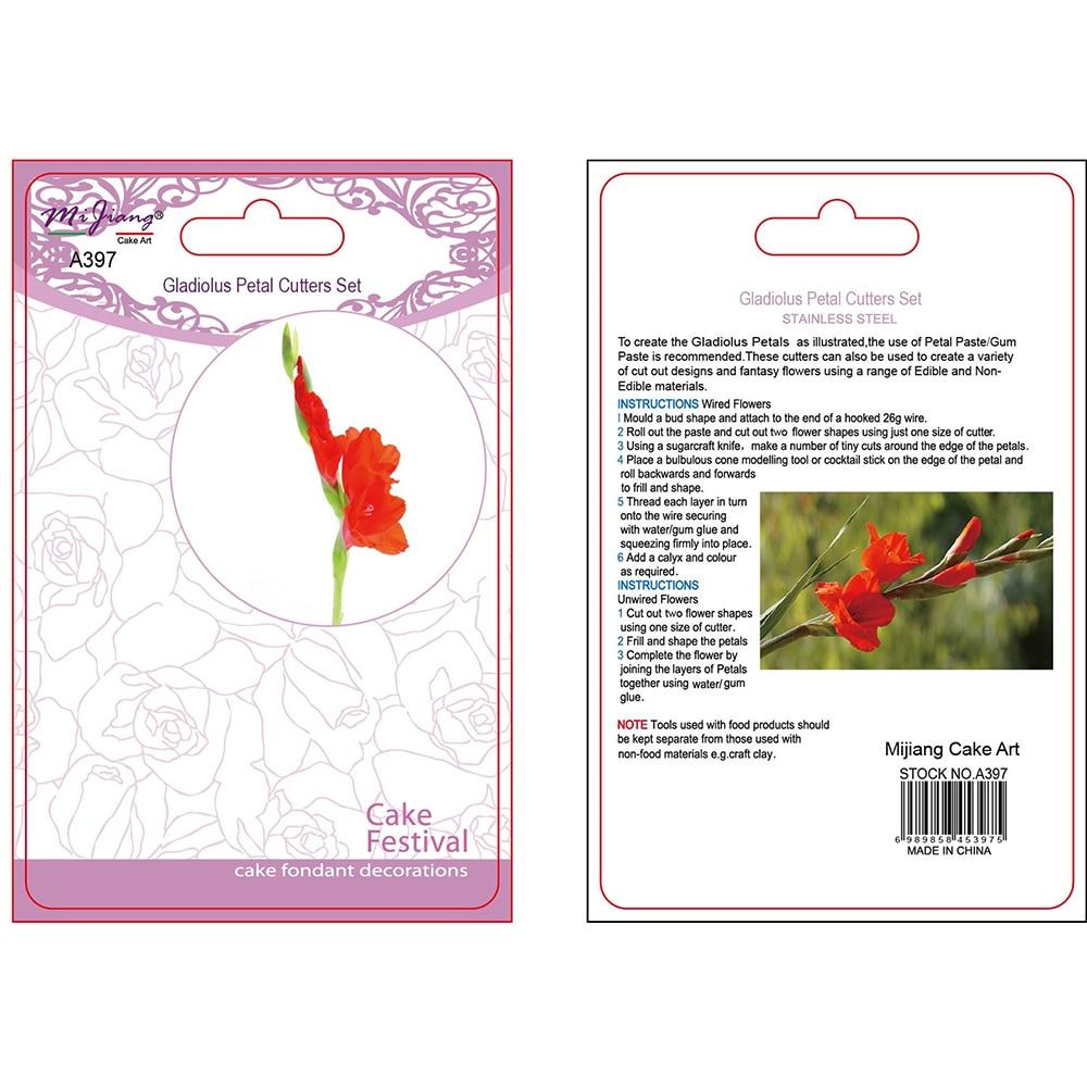 2pcs / set Gladiolus çiçək qəlibindən hazırlanmış kubok tortu - Mətbəx, yemək otağı və barı - Fotoqrafiya 2