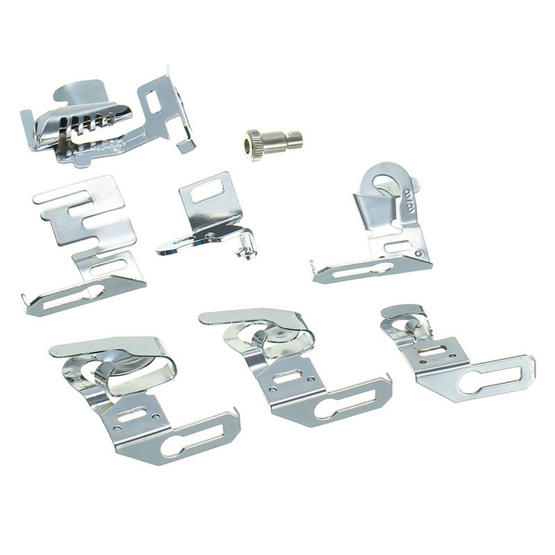 KiWarm Rolled Hem Presser Foot Set For Singer Janome Sewing Domestic Machine Part Sewing Machine Sewing Tools Accessory Stitcher