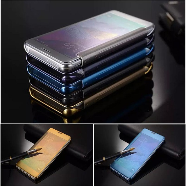 low priced b6f0d 01449 US $5.99 |For ( Samsung Galaxy Note 5 ) Luxury Original Mirror Smart Flip  Cover sFor Samsung Galaxy Note 5 Note5 N920 Phone Cases Coque-in Flip Cases  ...