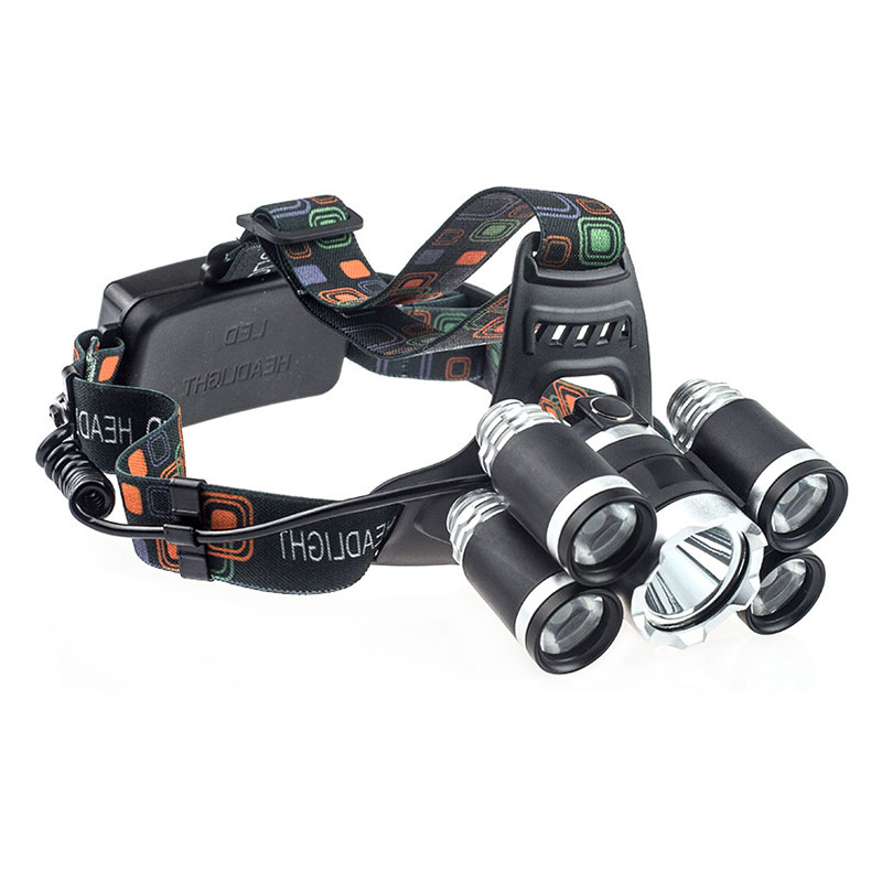 Newly 80000LM 5 LED XML-T6 Rechargeable USB Headlamp Head Light BN99