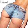 Estilo de verano 2017 nuevos pantalones cortos de mezclilla de las mujeres de moda sólido delgado sexy mini shorts calientes clubwear gimnasio flaco jean corto ropa de mujer