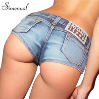 Summer Style 2016 New Denim Shorts Women Fashion Slim Solid Sexy Mini Hot Pants Clubwear Fitness