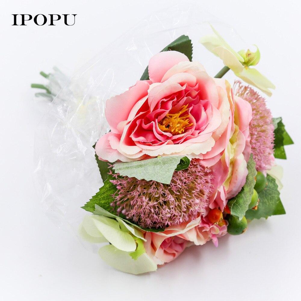 Roses Phalaenopsis Bride Bouquet Flowers 11 pcs Flowers Berries ...