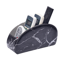 New Fashion PU Leather Remote Control Holder 5 Compartments Pocket Phone Storage Boxs