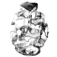 Mr 1991INC New Autumn Winter Men Women 3d Sweatshirts Print Watercolor Dreamy Smoke Lines Animal Thin