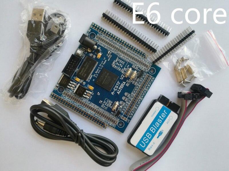 E6 altera fpga board altera board fpga development board EP4CE6f17C8N NIOS II board+ SDRAM +USB DC-5V POWER