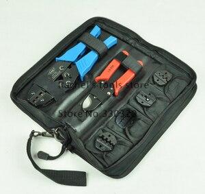 Image 2 - Krimpgereedschap hand tool set voor crimp terminals en connector met kabel cutter tang vervangbare sterft LS K03C, multi tool kits
