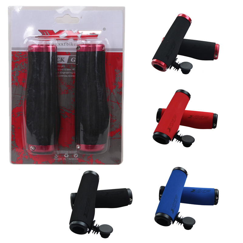 2017 New Bikes Grip Alloy Lockable Handlebar MTB Ergonomic Soft Sponge Grips Comfortable Lock-on Bar End Bicycle Accessories