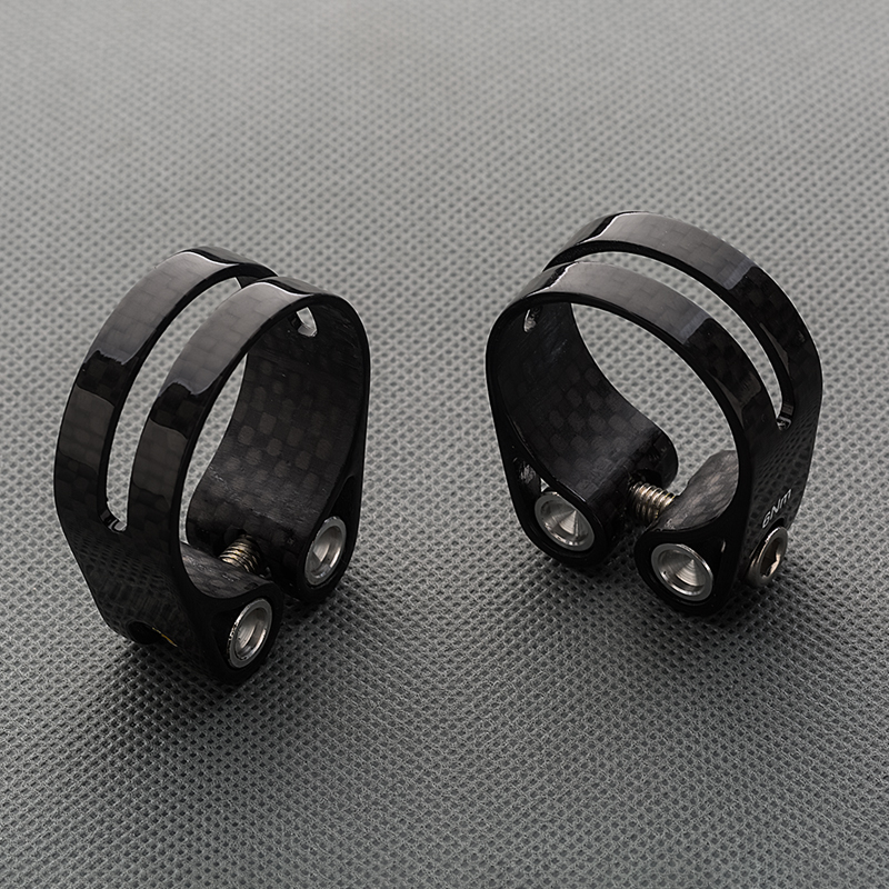 Road Bicycle Seatpost Clamp 3k Glossy Carbon Fiber Bike Seat Pole Clamps 34 9 31 8mm