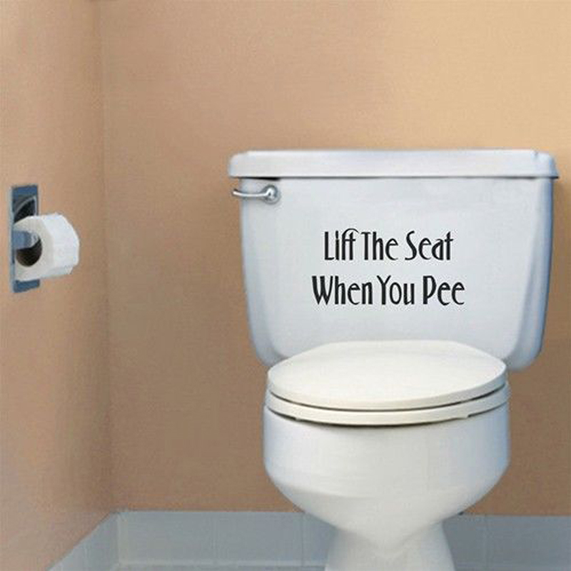 Wall Sticker PVC 5 Colors Waterproof Toilet Seat Sticker Home Bathroom Decal