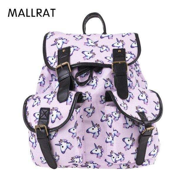 81d253de817 MALLRAT Holo Unicorn 3D Printing Backpack Women Bag Mochila Bookbag School  Bags for Teenage Girls Sac a Dos Canvas Backpacks