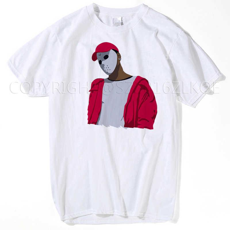 J 콜 제이-z 야만인 남자 티셔츠 Xxxtentacion 남자 여름 화이트 탑 재미 있은 2Pac 투팍 만화 티즈 남성 또는 여성 J 콜 제이-z