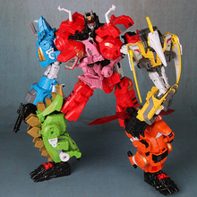 Oversize 6 in 1 Dinosaur Transformation Toy G1  Volcanicus Alloy Action Figure Robot Toys