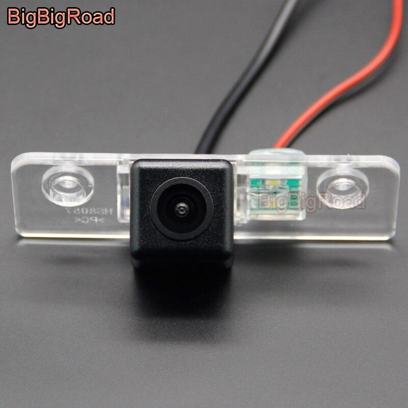 BigBigRoad Car Rear View Backup Parking CCD Camera For Skoda Octavia 2008 2009 2010 2011 2012 2013 2014 2015 Octavia5 A5