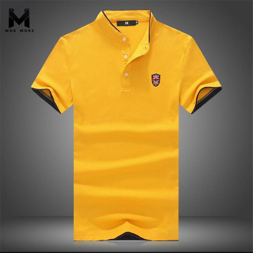 2017New Summer Men Collar Polo Shirt Men Clothing Solid Mens Polo Shirts Business Casual Polo shirt Cotton Sportswear Breathable