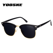 YOOSKE Classic Polarized Sunglasses Men Women Retro Brand Designer High Quality Sun Glasses Female Male Fashion Mirror Sunglass