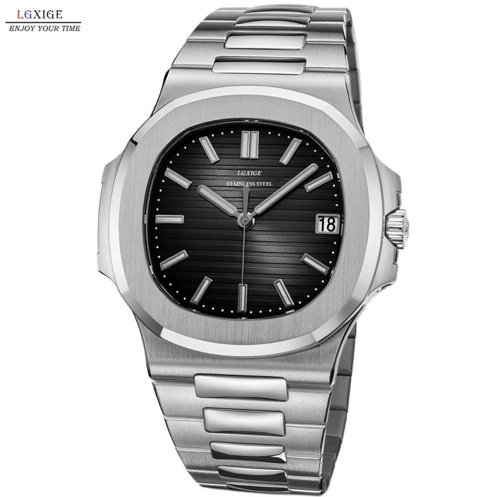 2019 nouveau luxe mode hommes montre en acier inoxydable saphir verre montre-bracelet pour hommes Top marque montre quartz ap étanche horloge