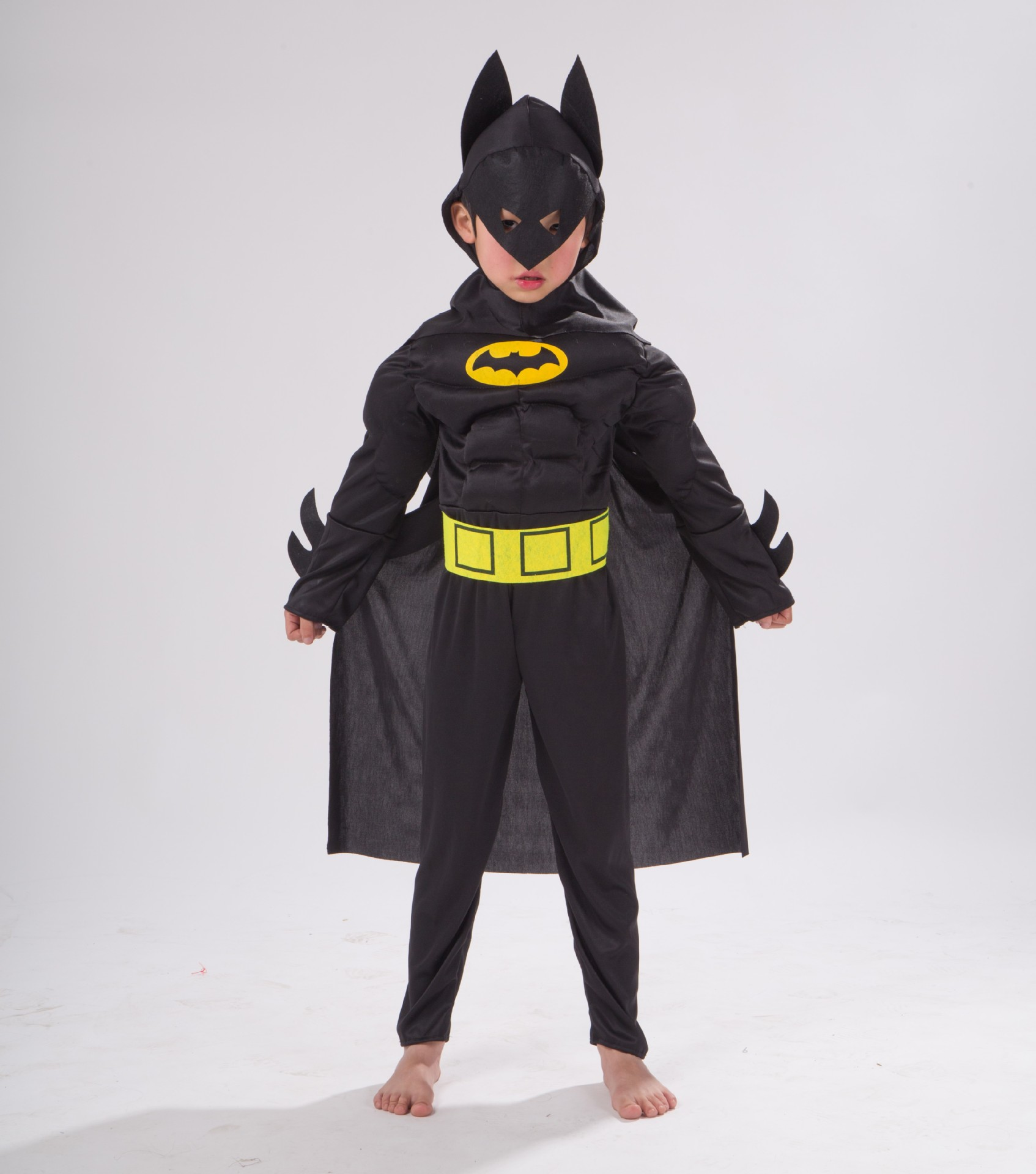 Bat Man Halloween Cosplay Costume for Kids Avengers Batman Muscle Jumpsuits Mask Children Boys Clothes Superhero party clothing