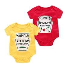 Yummz Tomato Ketchup Yellow Mustard Red and Bodysuit Baby Boy Twins Clothes Boys Girls DS9
