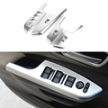 4 Pcs/Set Car Styling Door Handle Holder Window Lift Switch Cover Trim Accessories For Honda CRV CR-V LHD 2012 2013 2014 2015