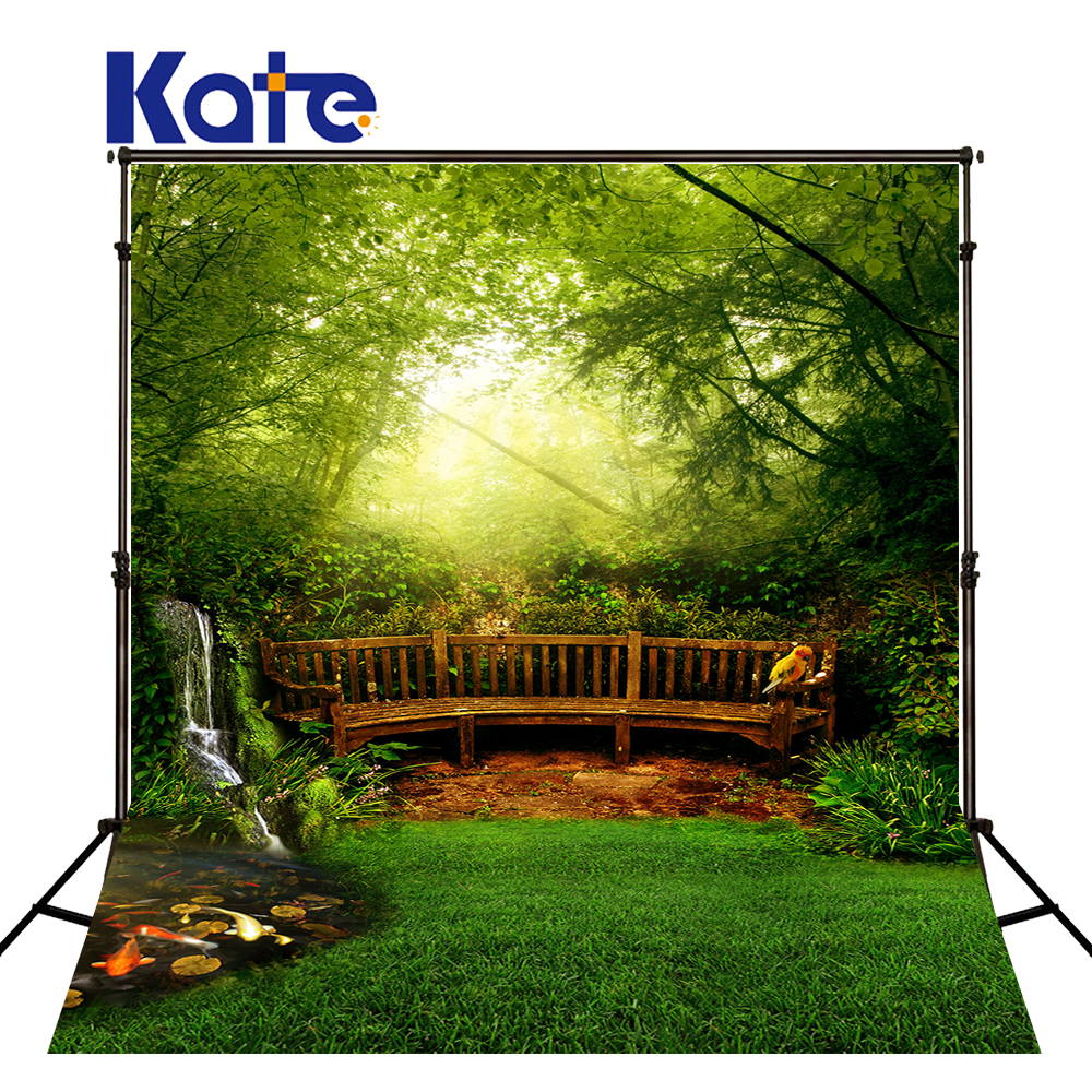 Kate Spring Photography Backdrops Forest Background Green Tree Background Multi-size Can Washed Background for Photos studio сумка kate spade new york wkru2816 kate spade hanna