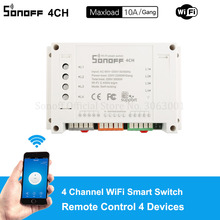 Remote-Wifi-Light Switch-Control Smart-Switch Work Four-Channel Sonoff 4-Devices Alexa Google
