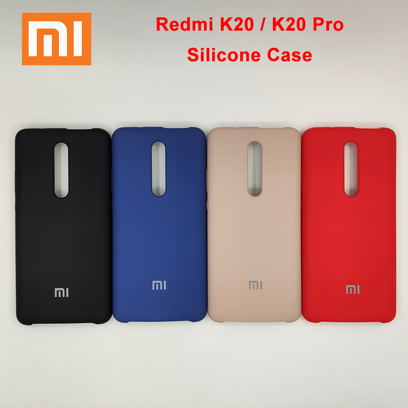 100% Original XiaoMi RedMI K20 K20Pro K 20 K20 Pro Silky Soft Touch Finish Case Back Liquid Silicone Anti fall Protective Cover-in Fitted Cases from Cellphones & Telecommunications