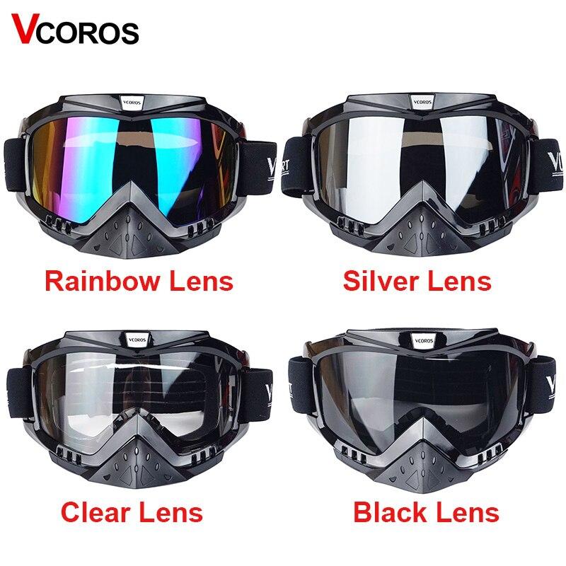 Vcoros Gafas motorcycle goggles helmet glasses moto helmets glasses masque motocross goggles ski windproof eyewears