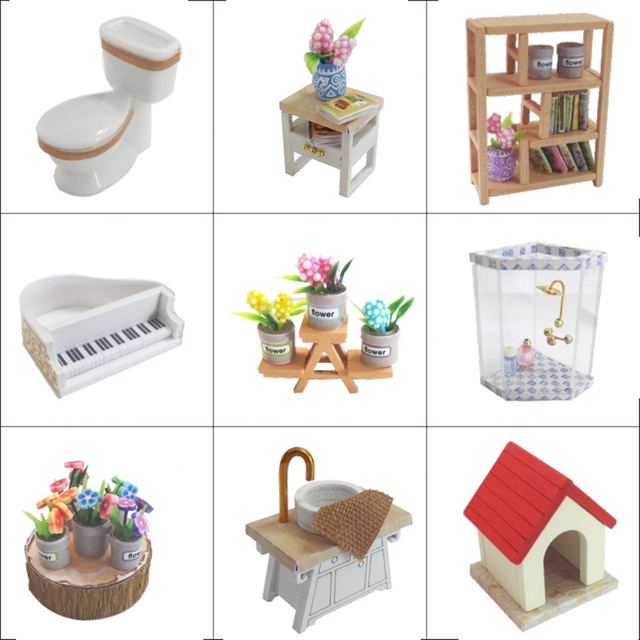 Doll House Furniture Miniature Toys for Children