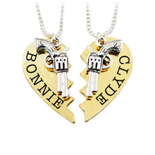 Přívěsek pro páry (2ks) Bonnie a Clyde