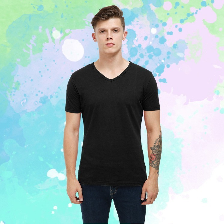 T     shirt   Vogue New Casual Men   Shirt   Homme Solid V neck Men's Tee   Shirts   Summer Fashion Short Sleeve   T  -  shirts