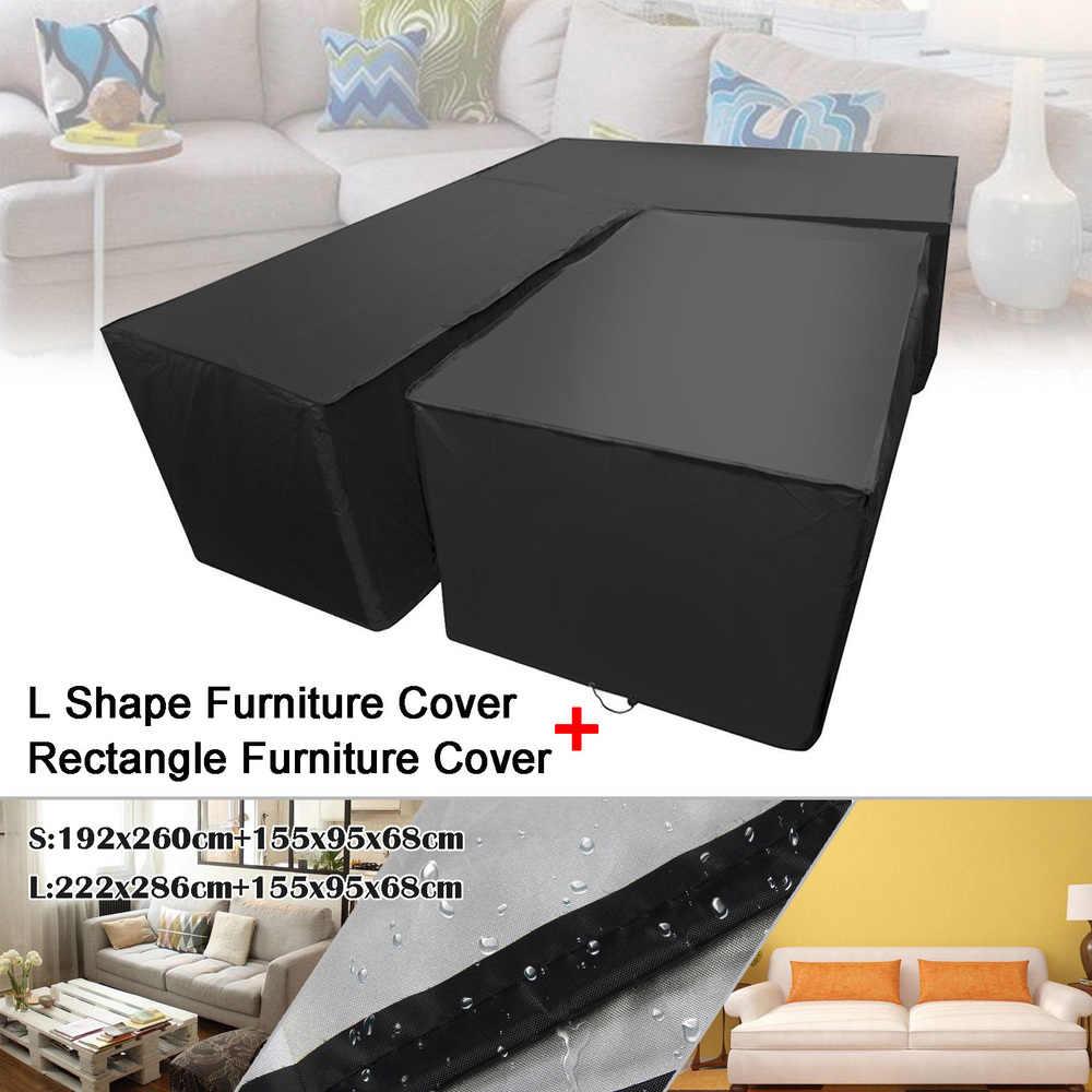 Waterproof Garden Rattan Corner Furniture Cover Outdoor Sofa Protect L  Shape UV-resistant Dust Covers