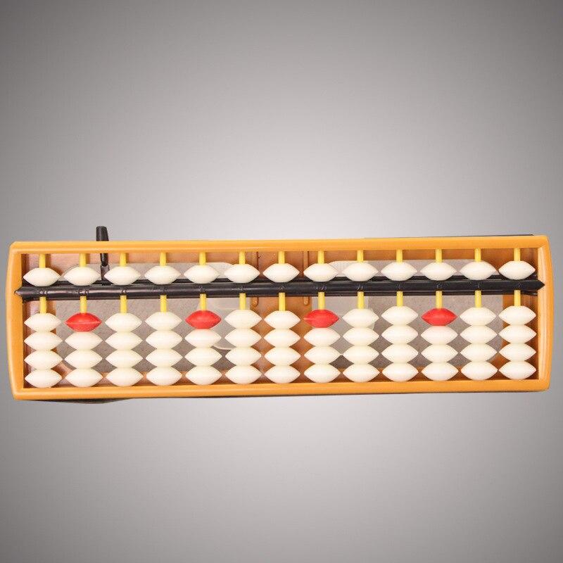 Enjoybay 13 Digits Plastic Abacus Arithmetic Soroban Math Learning Caculating Tools Wooden Frame Abacus Soroban Mathematics Toy