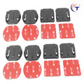 Superior black 12 pieces Helmet Accessories Flat Curved Adhesive Mount VHB for GoPro Hero 2/3/3 + / 4 SJCAM sj4000 5000  Camera
