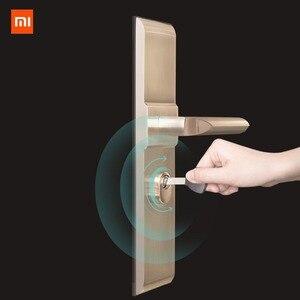 Image 4 - Умный Замок xiaomi mijia для домашней безопасности, практичный Противоугонный дверной замок с ключом, работает с приложением mi Home