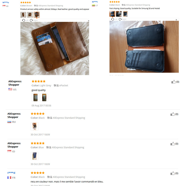 FLOVEME Universal Genuine Leather Wallet Case For iPhone X 8 7 6 6S Plus For Samsung Galaxy Note 8 S8 S9 Plus S7 S6 Pouch Cases 3