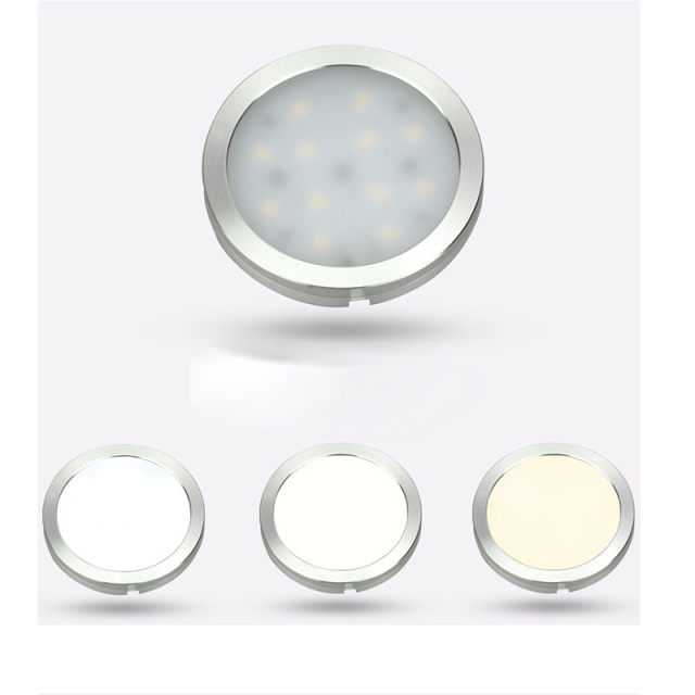4/6PCs/set 12V Under Cabinet Light Wireless Downlight Spotlights Kitchen Cabinets Cupboard Light Stair Lights LED Lighting