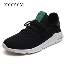 ZYYZYM Sneakers Men Casual Shoes Spring/Autumn Breathable Mesh Fashion Flats