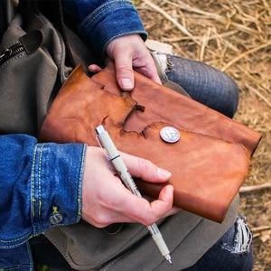Image 2 - Junetree ของแท้หนัง Handmade A6 A5 B5 VINTAGE Retro Travel Journal สมุดบันทึก Notepad ของขวัญวันวาเลนไทน์