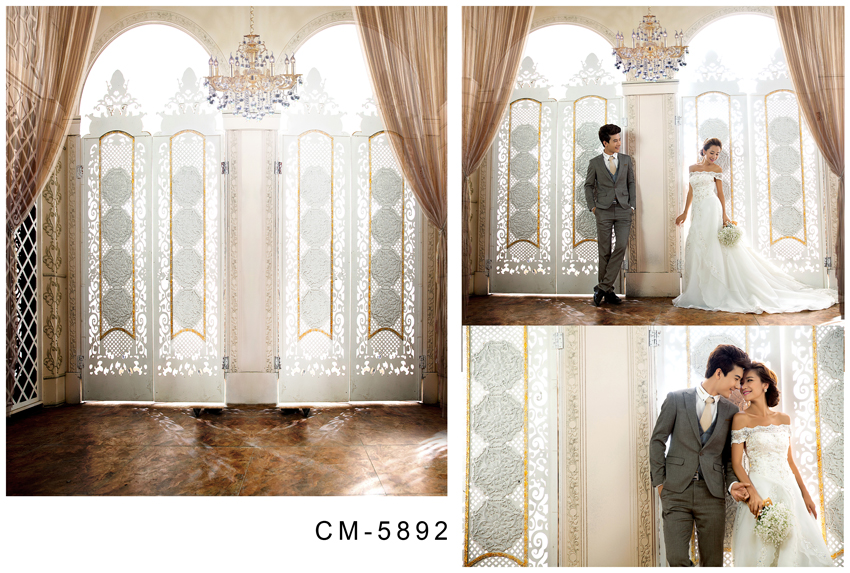 Photography Backdrops Bright Windows With Dark Curtain