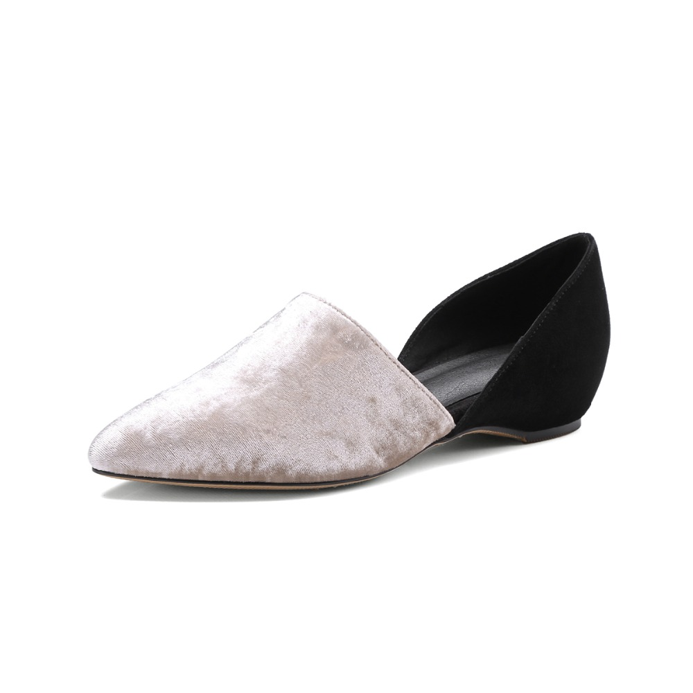 ФОТО 2017 Sexy ladies Women Flats Pointed-toe Casual Shoes Genuine leather Student flats Summer Dress Shoes Woman Box Packing a615-1