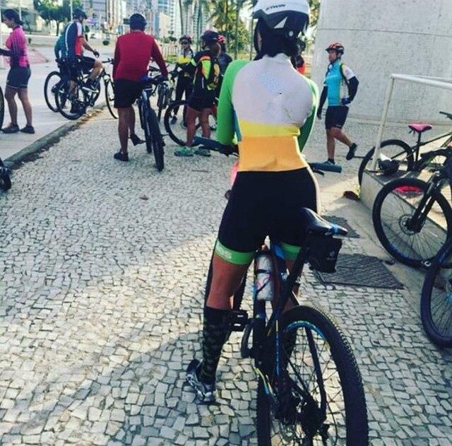 2019 pro equipe triathlon terno feminino ciclismo manga longa camisa skinsuit macacão maillot ciclismo ropa ciclismo conjunto gel 6