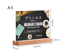 A5 Menu Display Acrylic Sign Holder Note Holder Table Poster Stand Price Tag Holder Display Stand For Store Restaurant Hotel(China)