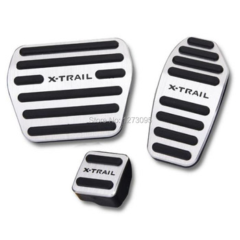 For 2014-2017 2018 Nissan X-Trail X Trail XTrail T32 Aluminum AT Accelerator Pedal Gas Brake Pad Pedal Protector Car Accessories